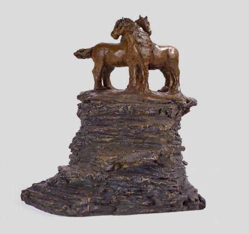 Petits chevaux bronze
